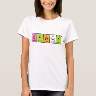 Sydney periodic table name shirt