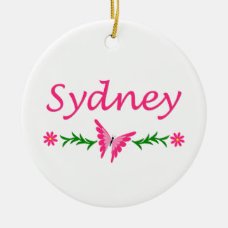 Sydney (Pink BUtterfly) Christmas Ornament