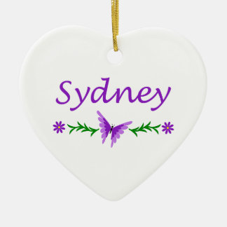 Sydney (Purple Butterfly) Christmas Ornament