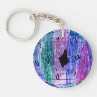 Sydney Single-Sided Round Acrylic Key Ring