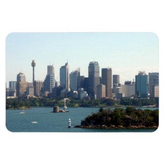 sydney sky line rectangular magnets