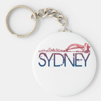 Sydney Skyline Design Key Ring