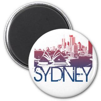 Sydney Skyline Design 6 Cm Round Magnet
