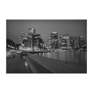Sydney Skyline Gallery Wrapped Canvas