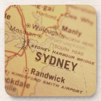SYDNEY Vintage Map Coasters