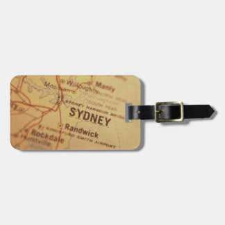 SYDNEY Vintage Map Luggage Tag