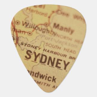 SYDNEY Vintage Map Plectrum