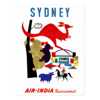 Sydney Vintage Travel Poster Restored Postcard