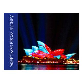 sydney vivid greetings postcard