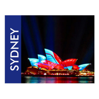 sydney vivid house postcard