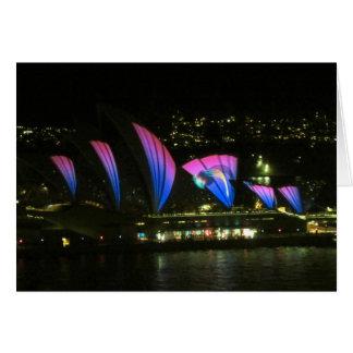 sydney vivid opera lilac greeting card