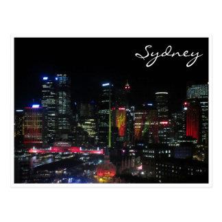 sydney vivid red postcard