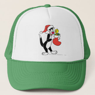 Sylvester Cat with Stocking Trucker Hat