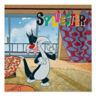 Sylvester Paw Up Poster
