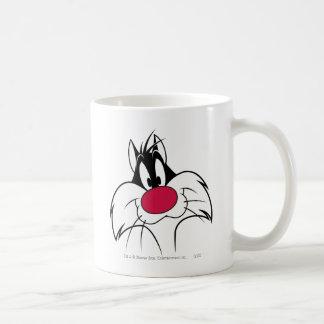 SYLVESTER™ Red Nose Face Basic White Mug