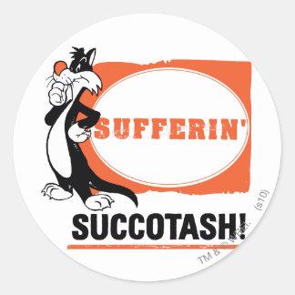 SYLVESTER™ Sufferin' Succotash! Classic Round Sticker