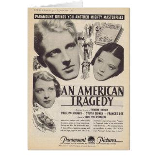 Sylvia Sidney An American Tragedy movie ad 1931 Greeting Card