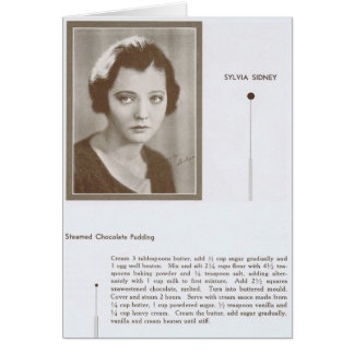 Sylvia Sidney vintage recipe Greeting Card
