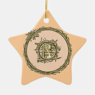 Symbol 9 Mandala Design Christmas Ornament
