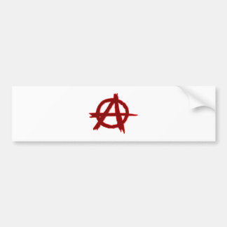 Symbol anarchy anarchy bumper sticker
