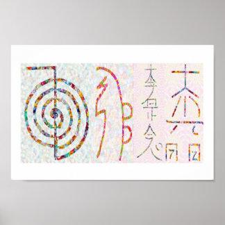 SYMBOL ART 2014 - Reiki Master Practice Posters