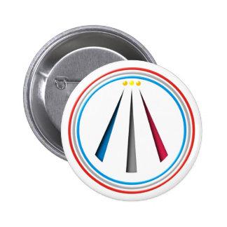 Symbol Awen neo druid bards 6 Cm Round Badge