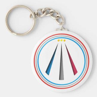 Symbol Awen neo druid bards Basic Round Button Key Ring