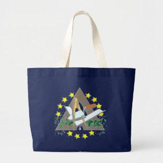 Symbol bricklayer freemason free masons canvas bag