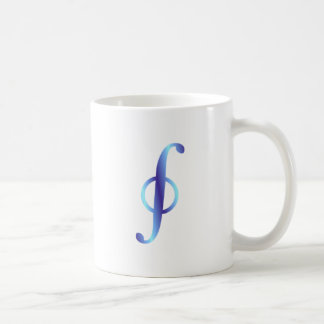 Symbol curve integral path integral basic white mug