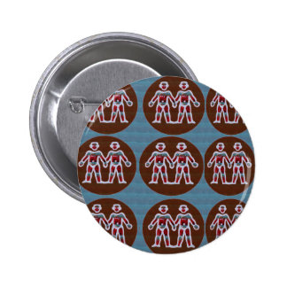 SYMBOL Deco Patterns: FUN Events Greetings GIFTS 6 Cm Round Badge