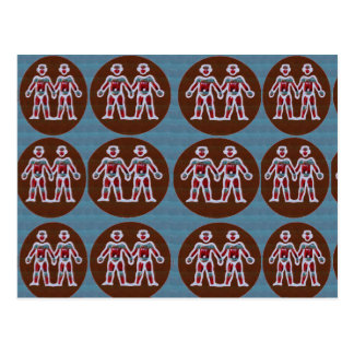 SYMBOL Deco Patterns: FUN Events Greetings GIFTS Postcard