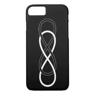 Symbol double Infinity - Black & White iPhone 7 Case