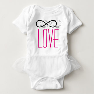 Symbol double Infinity - Black & White + love Baby Bodysuit