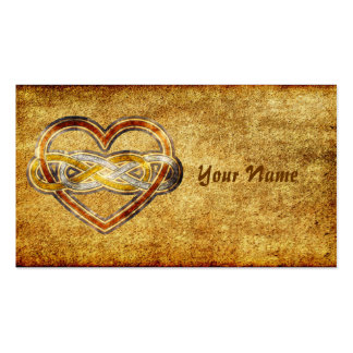 Symbol double Infinity Heart BiColor Pack Of Standard Business Cards