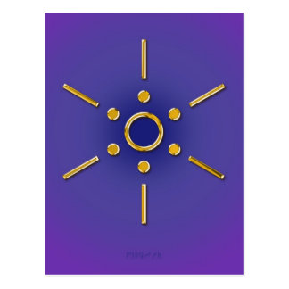 Symbol Elomin / gold blue violet Postcard