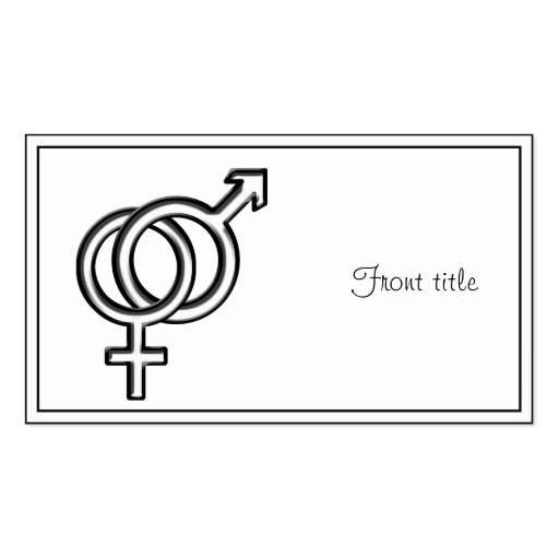 Symbol for Male and Female Business Card Template
