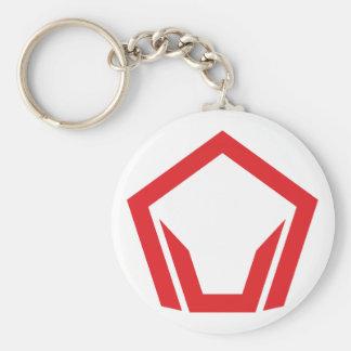 Symbol Fünfeck pentagon Schlüsselanhänger
