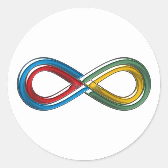 Symbol infinite infinit infinity classic round sticker