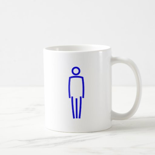 Symbol Mann man male Kaffeehaferl