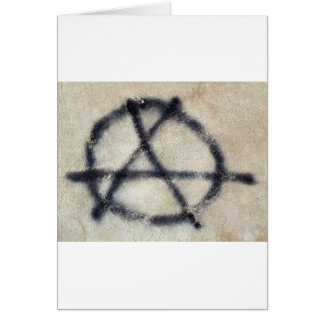 Symbol of Anarchy painted on a wall Card