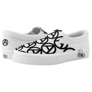 Symbol of Anarchy Slip-On Shoes