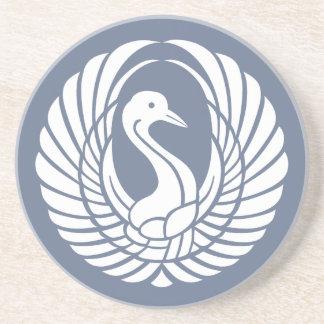 symbol of beautiful crane coaster