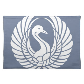 symbol of beautiful crane placemat