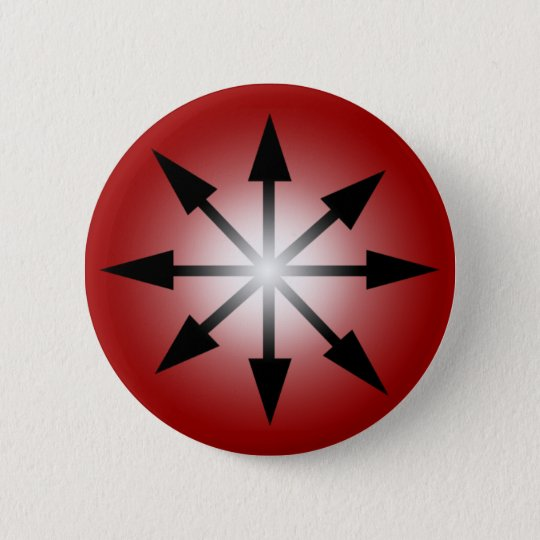 Symbol of Chaos 6 Cm Round Badge