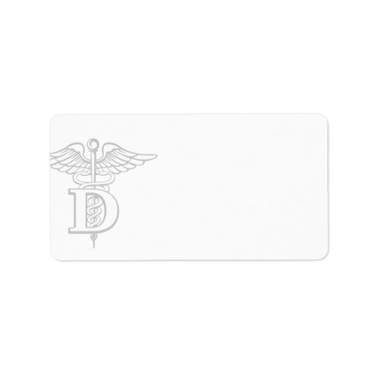 Symbol of Dentistry | Blank Address Address Label