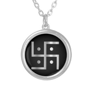 Symbol of Hinduism  Round Pendant Necklace