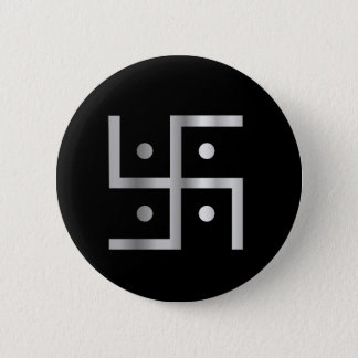 Symbol of Hinduism Swastika 6 Cm Round Badge