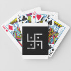 Symbol of Hinduism Swastika Bicycle Playing Cards