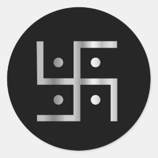 Symbol of Hinduism Swastika Classic Round Sticker