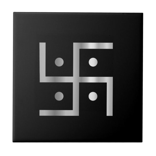 Symbol of Hinduism Swastika Small Square Tile